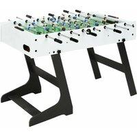 Folding Football Table 121x61x80 cm White - White