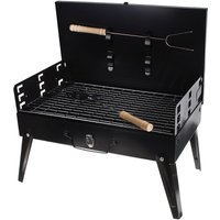 Mohoo - Charcoal BBQ Grill Portable Folding Grill Outdoor Garden BBQ Grill With Handles