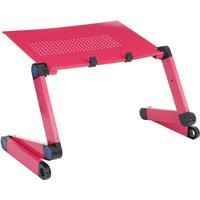 Folding Laptop Table Computer Desk Stand Adjustable red