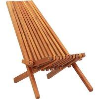Folding Outdoor Lounge Chair Solid Acacia Wood - VIDAXL