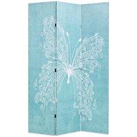 Folding Room Divider 120x170 cm Butterfly Blue