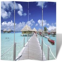 Folding Room Divider 160x170 cm Beach - YOUTHUP