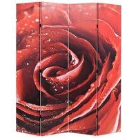 Zqyrlar - Folding Room Divider 160x170 cm Rose Red - Red