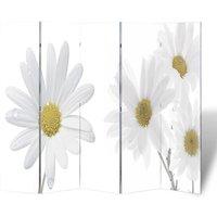 Folding Room Divider 200x170 cm Flower - YOUTHUP