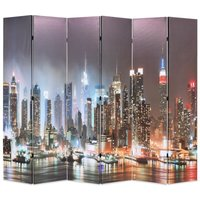 Betterlifegb - Folding Room Divider 228x170 cm New York by Night11074-Serial number