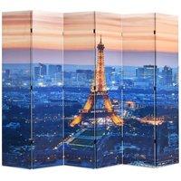 Zqyrlar - Folding Room Divider 228x170 cm Paris by Night - Multicolour