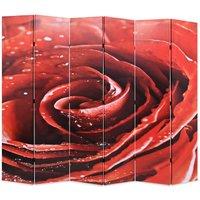 Betterlifegb - Folding Room Divider 228x170 cm Rose Red11106-Serial number
