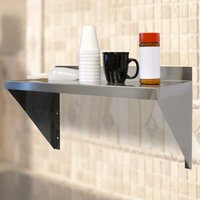 Folding Stainless Steel Shelves Wall Kitchen Dining Table 120x35cm