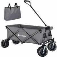 Tectake - Garden trolley fodable with carry bag - garden cart, beach trolley, trolley cart - grey