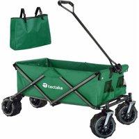 Garden trolley fodable with carry bag - garden cart, beach trolley, trolley cart - green