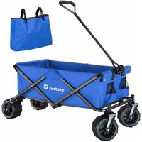 Garden trolley fodable with carry bag - garden cart, beach trolley, trolley cart - blue - TECTAKE