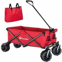 Garden trolley fodable with carry bag - garden cart, beach trolley, trolley cart - red - TECTAKE