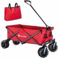 Garden trolley fodable with carry bag - garden cart, beach trolley, trolley cart - red