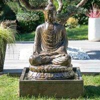 Fontaine de jardin bouddha assis 1 m 20 patiné - WANDA COLLECTION