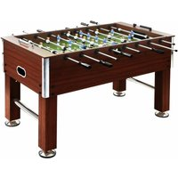 Football Table Steel 60 kg 140x74.5x87.5 cm Brown - YOUTHUP