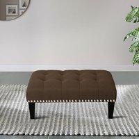 Footstool Button Seat Bench Ottoman Pouffe Stool Coffee 50x3