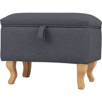 Livingandhome - Footstool Ottoman Pouffe Stool Toy Storage Box Bench Chair Window Seat Dark Grey