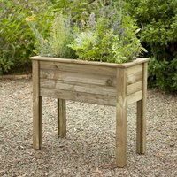 Forest Bamburgh Table Wooden Garden Planter 3x2 (1x0.5m)
