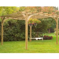 Forest Large Ultima Wooden Garden Pergola Arch 10x10