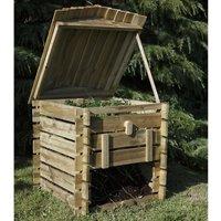Forest Garden - Forest Beehive Wooden Compost Bin 25x26 (0.74x0.74m)