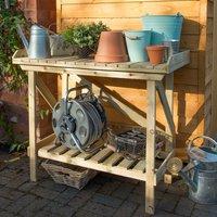 Forest Garden - Forest Wooden Garden Potting Bench/Table 3'6 x 2' (1.08x0.52m)