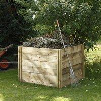 Forest Garden - Forest Slot Down Wooden Compost Bin (1.06x1.06m)