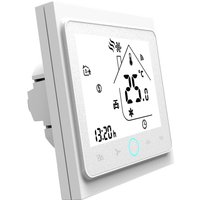 Four Pipe Wifi Voice Intelligent Room Thermostat Digital Programmable Temperature Controller for Air Conditioner (BAC-002ELW, White),model:White