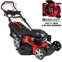 Quad-Cut 530E 21 Electric Start Self Propelled Petrol Lawn Mower - FOX