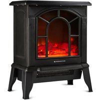 Freestanding Electric Log Burner Stove Heater 1800W Fireplace with Flame Effect