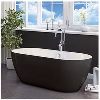 Synergy - Freestanding Luxury Double Ended Bath 1655 x 750 mm - Black San Marlo by