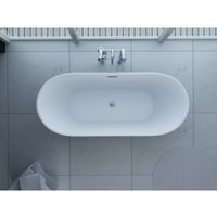 Synergy - Freestanding Modern Double Ended Thin Edge Bath 1600 x 800 mm - Lugano by size 1600 x 800mm - color White
