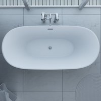 Synergy - Freestanding Modern Slipper Double Ended Thin Edge Bath 1800 x 800 mm - Bolsena by size 1800 x 800mm - color White