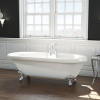 Freestanding Traditional Roll Top Bath 1695mm - Wilmslow By Synergy - size 1695mm - color White