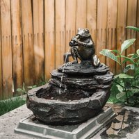Freestanding Water Feature Garden Cascading Fountain LED Lights