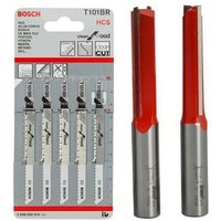 Freud Kitchen Fitters Set 2 x 50mm x 1/2 Router Cutters + 5 Jigsaw Blades