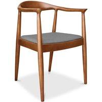 Privatefloor - Fridolf Scandinavian design chair - Fabric Light grey
