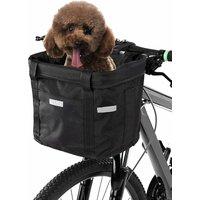 Front Bicycle Basket Detachable Waterproof Bicycle Handlebar Basket Pet Carrier Frame Bag