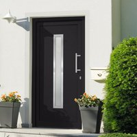 Front Door Anthracite 108x200 cm - Grey - Vidaxl