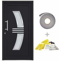 vidaXL Front Door Anthracite 108x200 cm - Anthracite