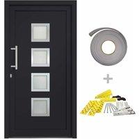 vidaXL Front Door Anthracite 108x208 cm - Grey