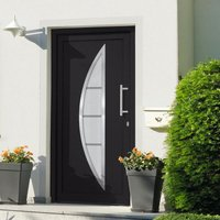 Front Door Anthracite 108x208 cm - Grey - Vidaxl