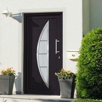 Front Door Anthracite 98x190 cm - Grey - Vidaxl