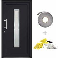 Front Door Anthracite 98x208 cm - Grey - Vidaxl