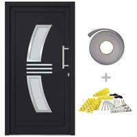 Front Door Anthracite 98x208 cm - Anthracite - Vidaxl