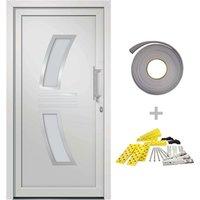 Front Door White 108x208 cm - White - Vidaxl