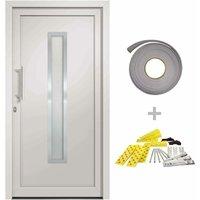 vidaXL Front Door White 88x200 cm - White
