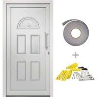 Front Door White 88x200 cm - White - Vidaxl