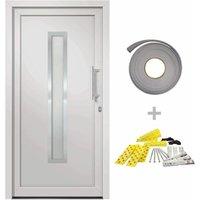 Front Door White 98x200 cm - White - Vidaxl