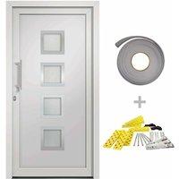 vidaXL Front Door White 98x208 cm - White