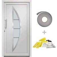 Front Door White 98x208 cm - White - Vidaxl